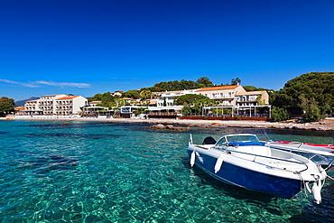 France, Corsica, Corse-du-Sud Department, Corsica South Coast Region, Porto Vecchio-area, Pinarello, small resort