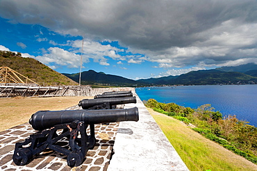 Dominica, Portsmouth, Cabrits National Park, Fort Shirley, 18th century British fort