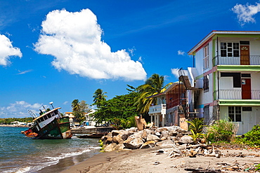 Dominica, Portsmouth, Prince Rupert Bay, shipwrecks caused by Hurricane Dean in 2007