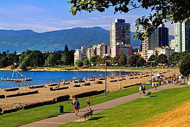 English Bay In the background, Vancouver West End Vancouver British Columbia, Canada.