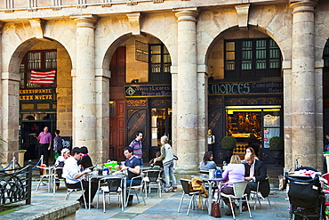 ¥Plaza Nueva¥. Square. Old City. Plaza Nueva Bilbao. Bilbo. Bizkaia. Vizcaya. Pais Vasco. Euskadi. Basque Country, Spain