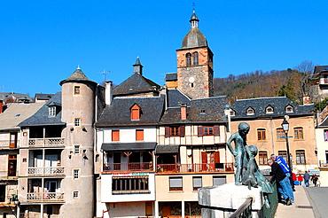 Saint-Geniez-d¥Olt, Aveyron, Midi-Pyrenees region, southern France