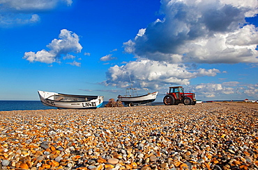 Crab Boats on Cley Beach Norfolk April