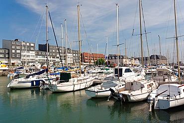 France, Normandy Region, Calvados Department, D-Day Beaches Area, Courseulles Sur Mer, town marina