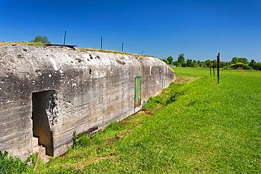 France, Normandy Region, Calvados Department, D-Day Beaches Area, Merville-Franceville, Musee de la Batterie de Merville, Merville Battery Museum, site of WW2-era D-Day invasion battle, ruins of German bunker