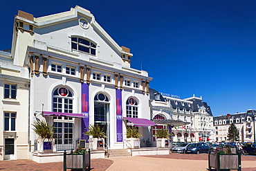 France, Normandy Region, Calvados Department, D-Day Beaches Area, Cabourg, Casino and The Grand Hotel