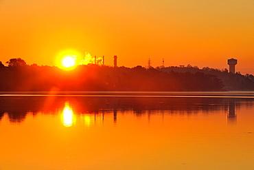 Sunrise over Gibson Lake, Thorold, Ontario, Canada