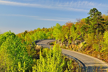 Kantola Road in the spring, Greater Sudbury lively, Ontario, Canada
