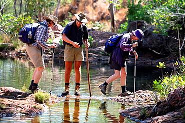 Bushwalkers in Litchfield National Park, Northern territory, Australia