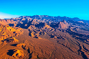 Aerial view of the Chisos Mountains, Big Bend National Park, Texas USA