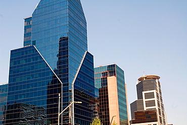 Modern buildings in Apoquindo Av Santiago