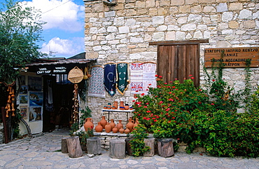 Handicraft in a street of Lania, Troodos, Cyprus