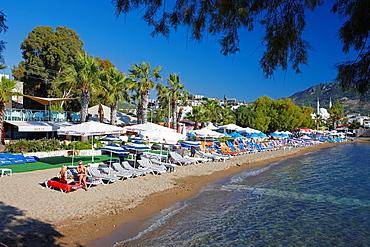 Beach in Yalikavak Bodrum peninsula, Province of Mugla, Turkey