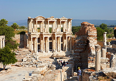Celsus Library Ephesus Archaeological Sitee, Izmir province, Turkey