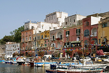 Marina Grande of Sancio Cattolico, Procida island, Campania region, southern Italyy, Europe