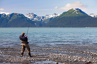 Fishing near Seward, Kenai Peninsula, Alaska, USA