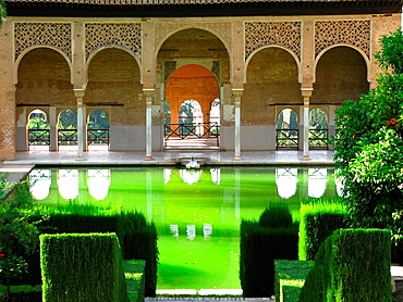 The Partal of the Alhambra, Granada, Andalucia, Spain
