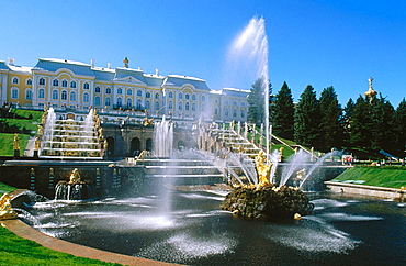 Grand Cascade, Peterhof Park, St, Petersburg, Russia