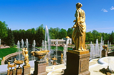 Gran Cascade at Petrodvorets Park, St, Petersburg, Russia