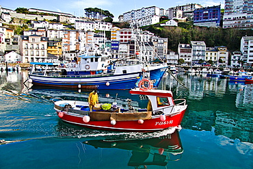Fishing port of Luarca, Asturias, Spain