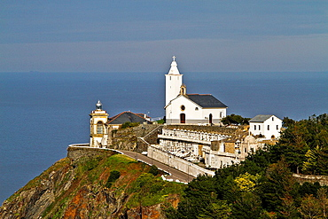 Lighthouse, Church and Cementery of Luarca, Aturias, Spain