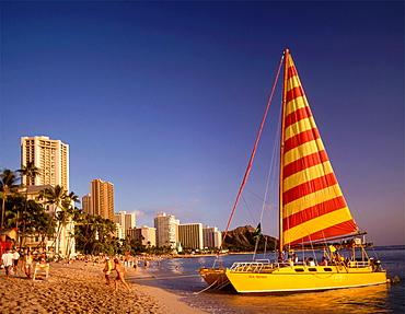 USA, Hawaii, Oahu, Waikiki, beachh