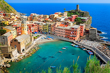 Vernazza harbor on a spring day