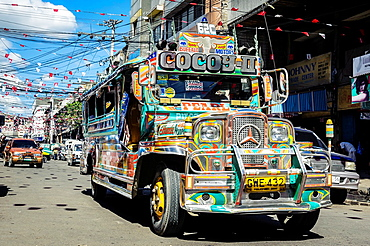 Jeepney on the streets of Cebu, Philippines, South East Asia