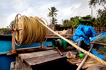 tools and utensils of a fishing boat