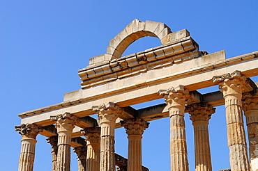 Temple of Diana in Merida Badajoz province Extremadra Spain