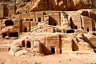 The Street of Facades, ancient tombs in Petra archaeological site Jordan.