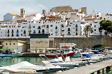 Peniscola port A mediterranean city on summertime Castellon, Spain