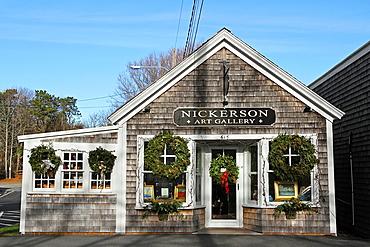 Nickerson Art Gallery in December, Chatham, Cape Cod, Massachusetts
