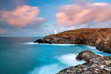 Trevose Head and lighthouse, Cornwall, England, UK, Europe.