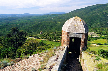 Bellegarde fort defense turret, Le Perthus, Eastern Pyrenees, Languedoc-Rousillon, France
