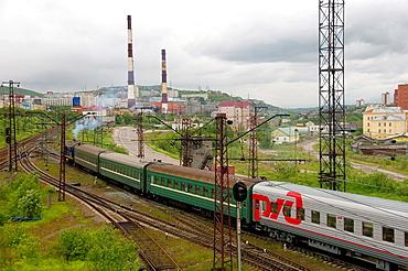 Murmansk railroad, Kola, Arctic, Russia