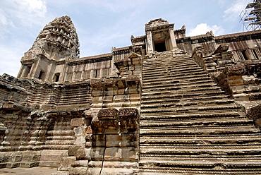 steps at Angkor Wat, Cambodia