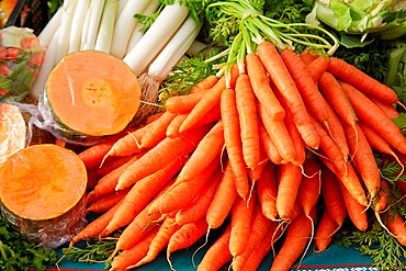 Carrots, Natural Agricultural Products, Hondarribia, Gipuzkoa, Spain.