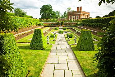 Pond Garden and Banqueting House built 1700, Hampton Court Palace, Surrey, England,