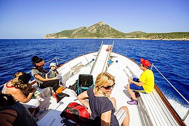 Margarita boat, Dragonera Natural Park Sierra de Tramuntana Dragonera Isla Mallorca Balearic Islands Spain