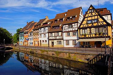 Colmar, Little Venice, La Petite Venise, Alsace, Wine Route, Alsace Wine Route, Haut-Rhin, France, Europe.
