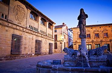Plaza del Populo o de los leones, Baeza  Jaen province, Andalusia, Spain