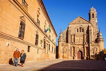 Sacra capilla del Salvador,Church of the Salvador 16th century in Plaza de Vazquez Molina, ubeda  Jaen province  Andalusie  Spain