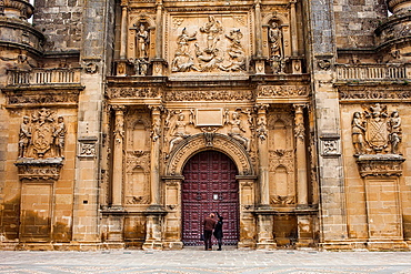 Facade of Sacra capilla del Salvador,Church of the Salvador 16th century in Plaza de Vazquez Molina, ubeda  Jaen province  Andalusie  Spain