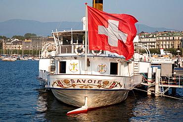 Savoie Paddle Steam Boat Restaurant, Lake Geneva, Geneva, Switzerland, Europe