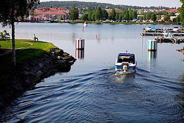 Small boat harbor in Haernoesand, Vaesternorrland, Sweden