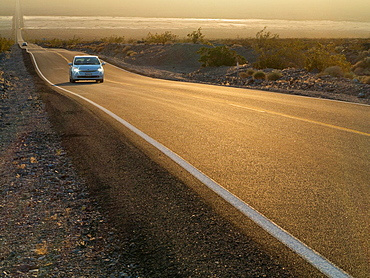 The California State Route 190 in the Panamint Valley close to Panamint Springs Resort Death Valley National Park, California, USA