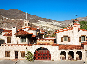 The history of Scotty's Castle in the Grapevine Canyon in the northern part of Death Valley is tighty linked to Walter Scott, Death Valley Scotty, perhaps the most eccentric character of the area Death Valley National Park, California, USA