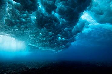 Underwater view of waves