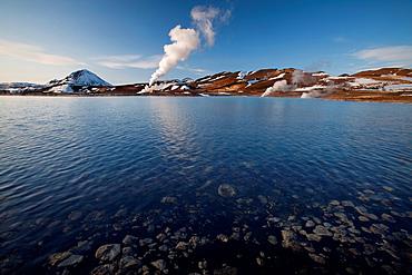 Thermal vent in rural landscape